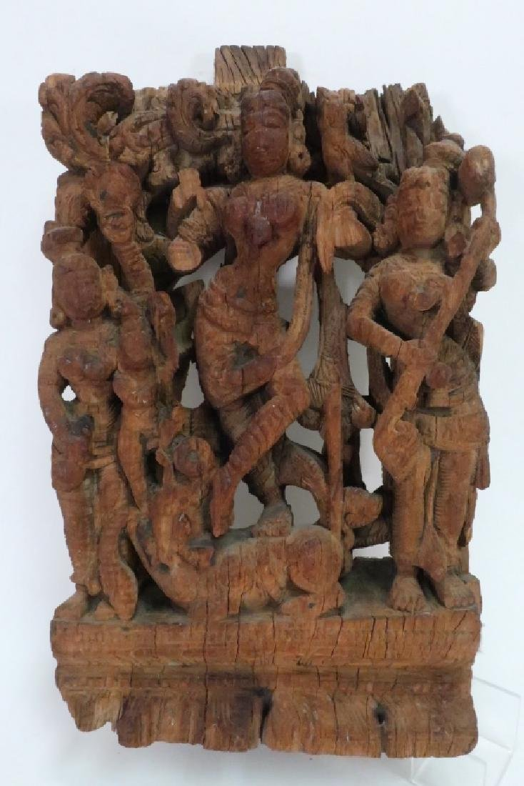 2 Indian Carvings Depicting Temple Dancers - 2