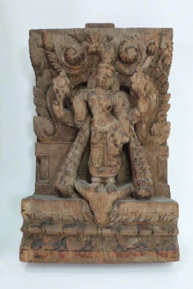 2 Indian Carvings Depicting Temple Dancers - 3