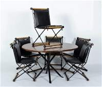 Cleo Baldon MCM 6 Iron/Oak Chairs w Table '64