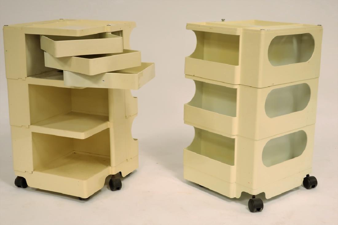 2 Joe Colombo for Kartell Architect's trolleys