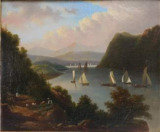 Victor De Grailly, View Near Anthony's Neck, O/C