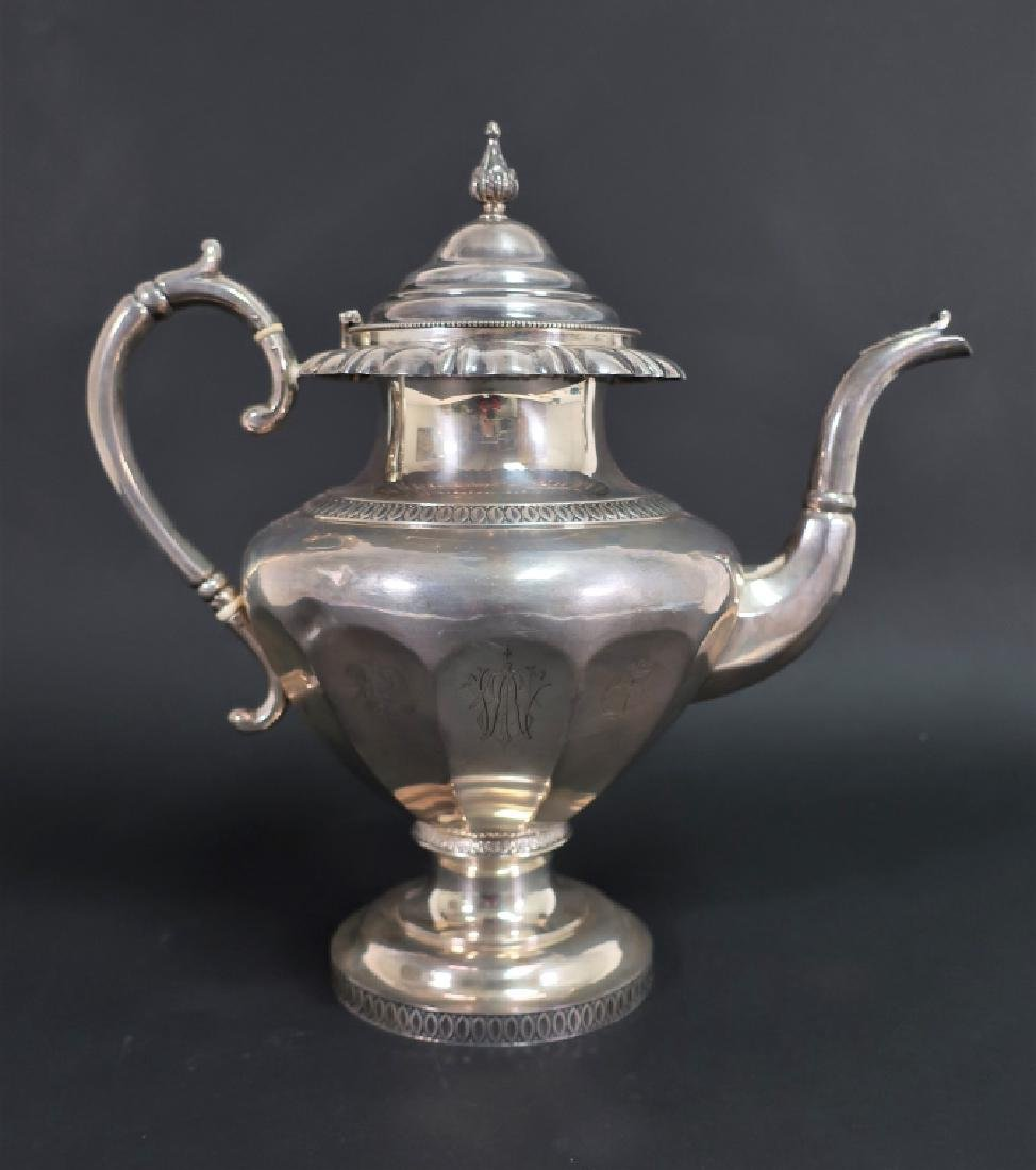 Starr & Marcus Sterling Silver Coffee Pot 1855