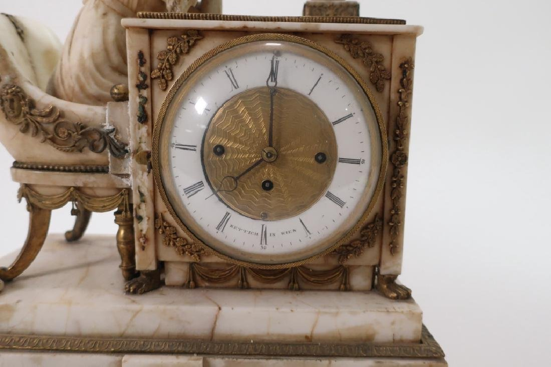Austrian Marble Neoclassical Clock, 19th c., as is - 5