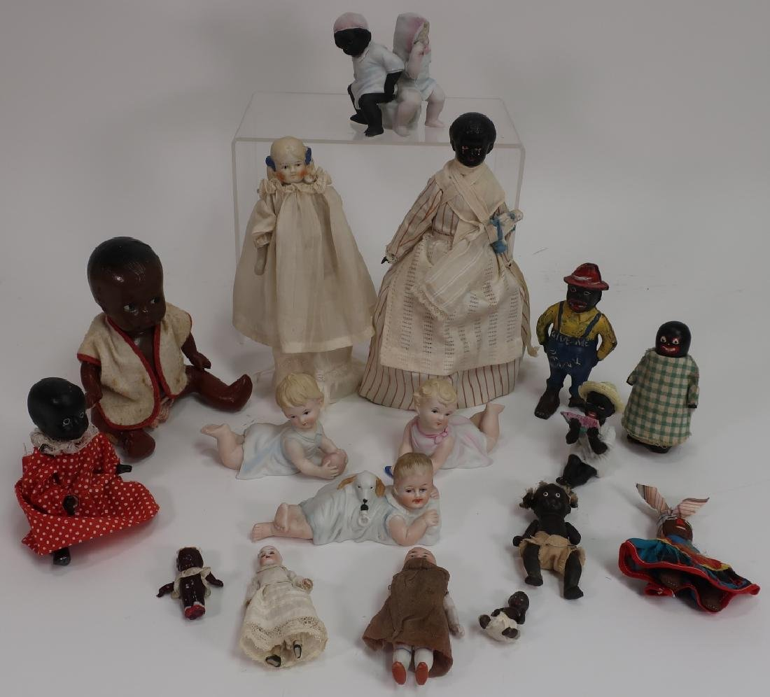 Group of Mostly Black Baby Dolls