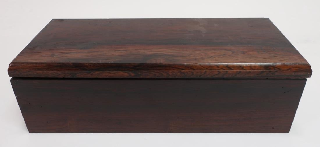 Solid Rosewood Box with Piano Hinge