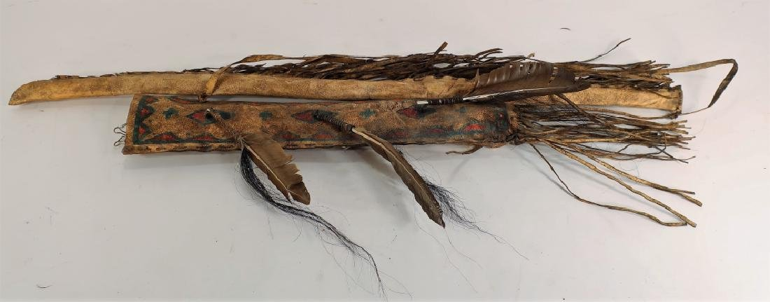 Plains Indian Bow and Arrow w/ Painted Quiver - 3
