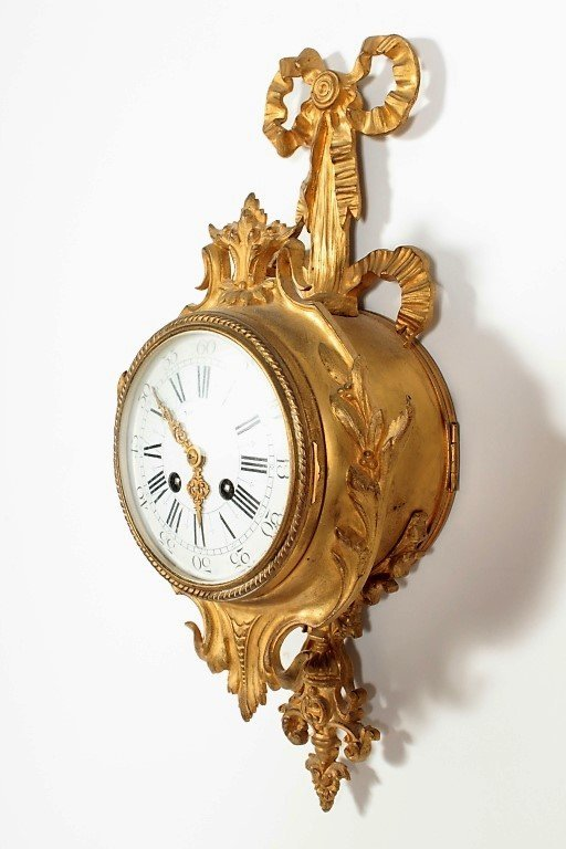 Tiffany & Co French Gilt Bronze Cartel Clock - 3