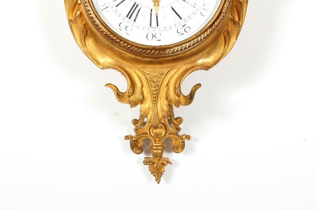 Tiffany & Co French Gilt Bronze Cartel Clock - 4