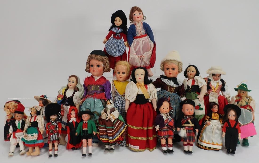 Lot of  Vintage European Souvenir Dolls