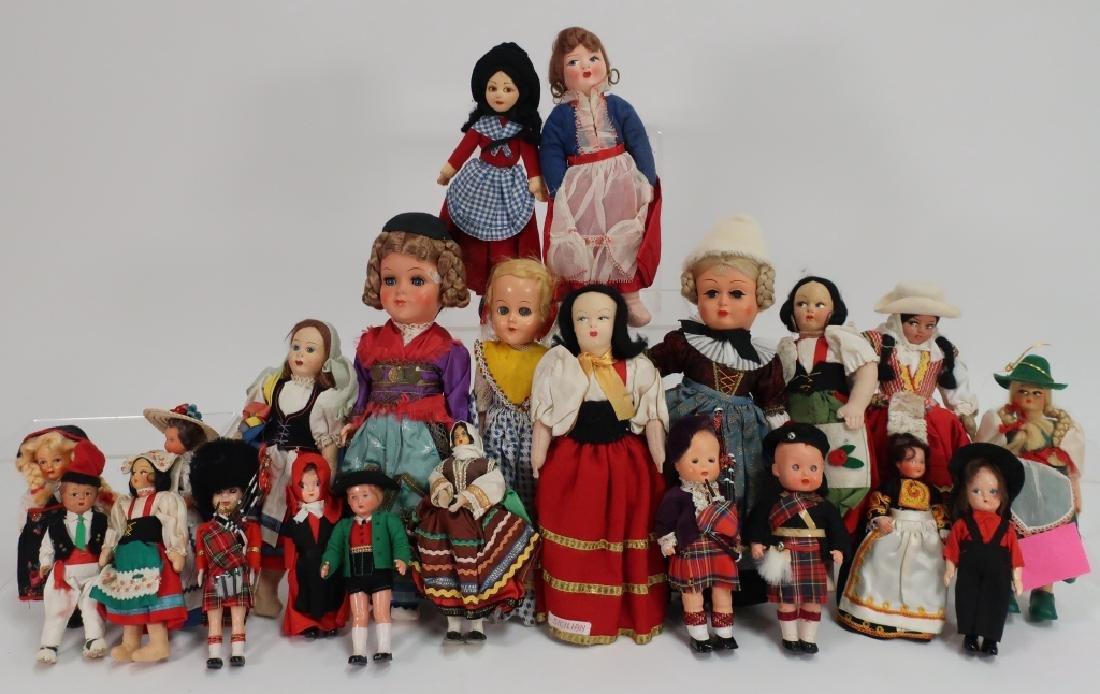 Lot of  Vintage European Souvenir Dolls