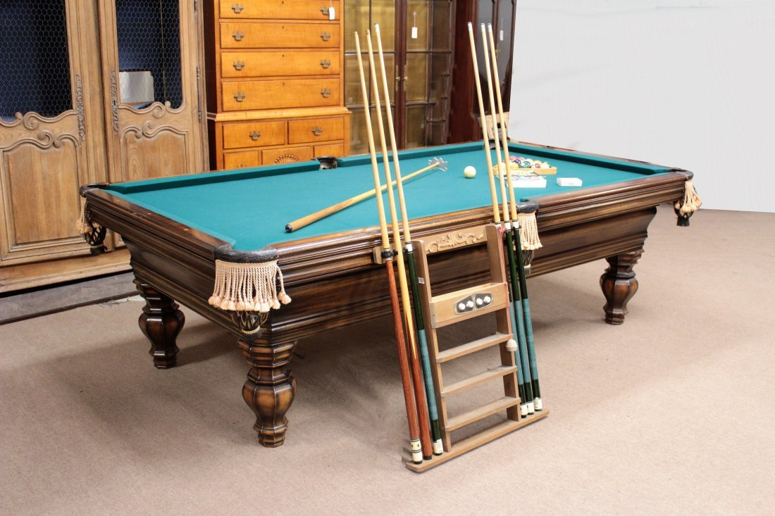 Brunswick Pool Table. Later 20th c.