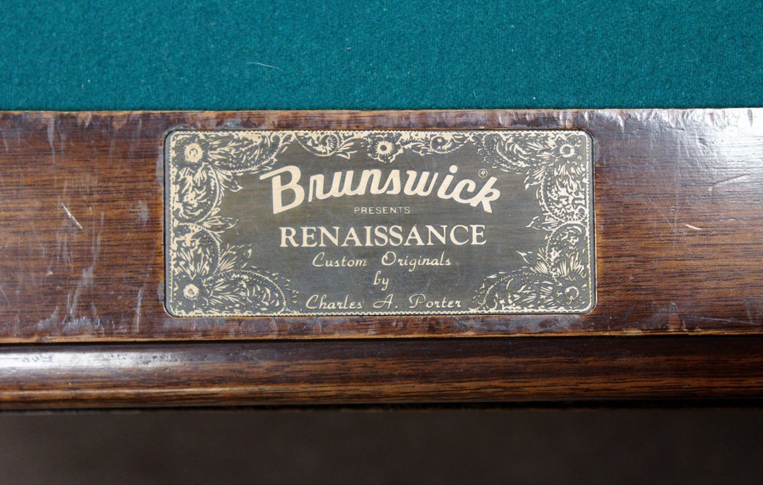 Brunswick Pool Table. Later 20th c. - 9