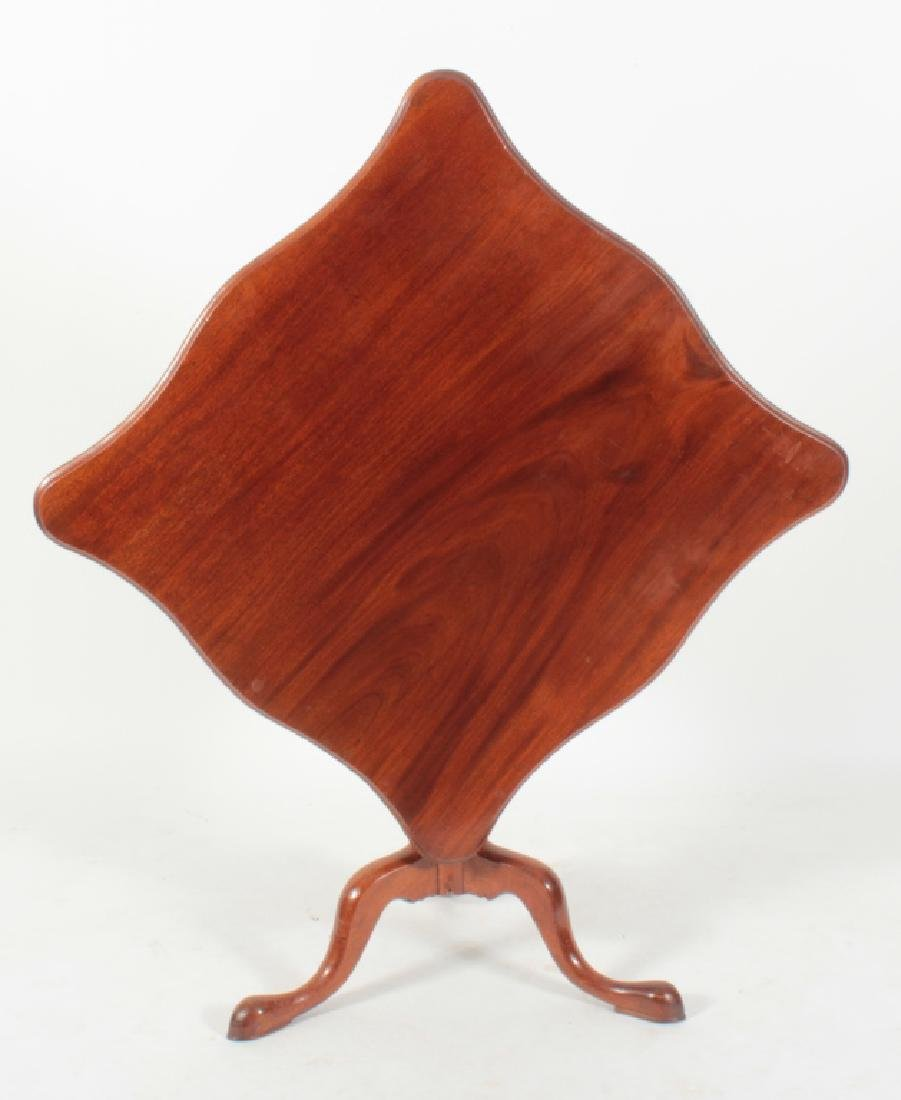 Queen Anne Serpentine Mahogany Tilt-Top Tea Table