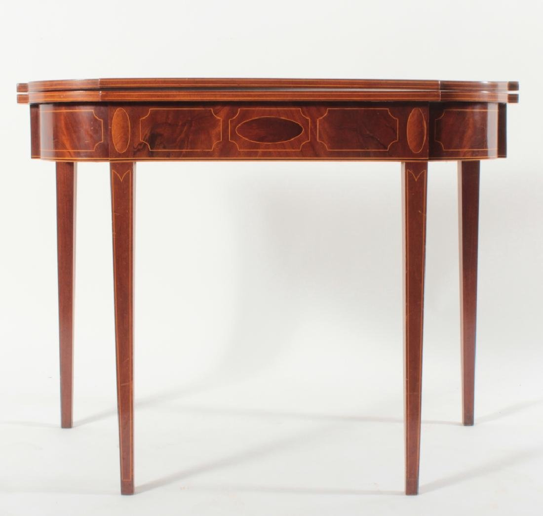 Federal Mahogany Folding Games Table, String Inlay