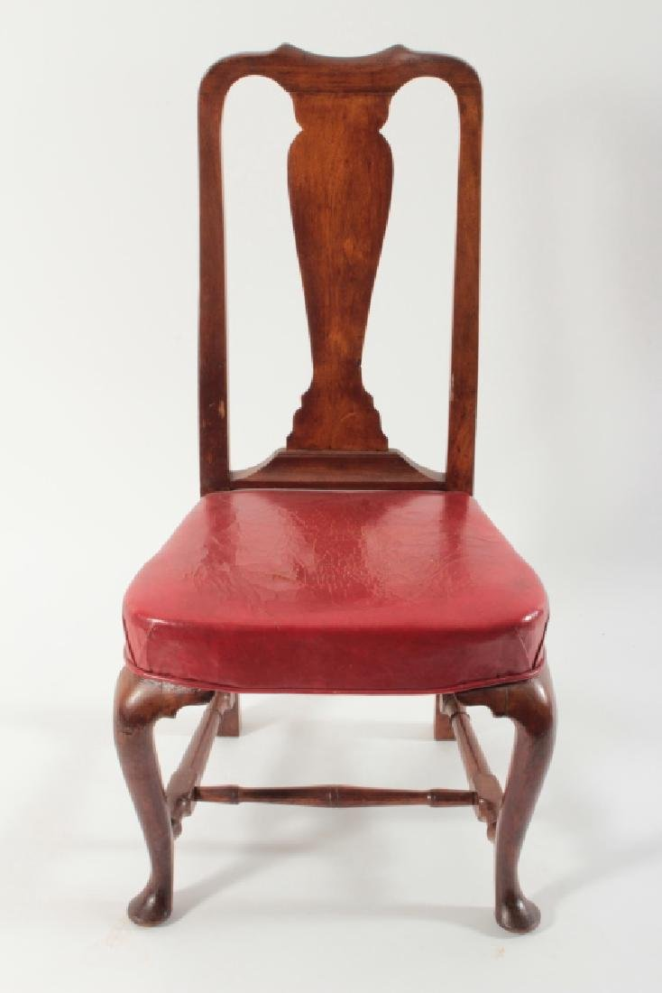 Queen Anne Walnut Side Chair, Boston, mid 18th c.