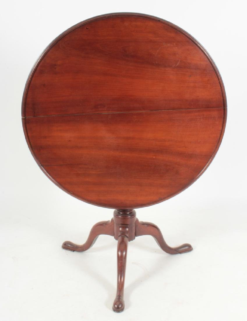 Chippendale Cherrywood Tilt-Top Tea Table, 18th c.