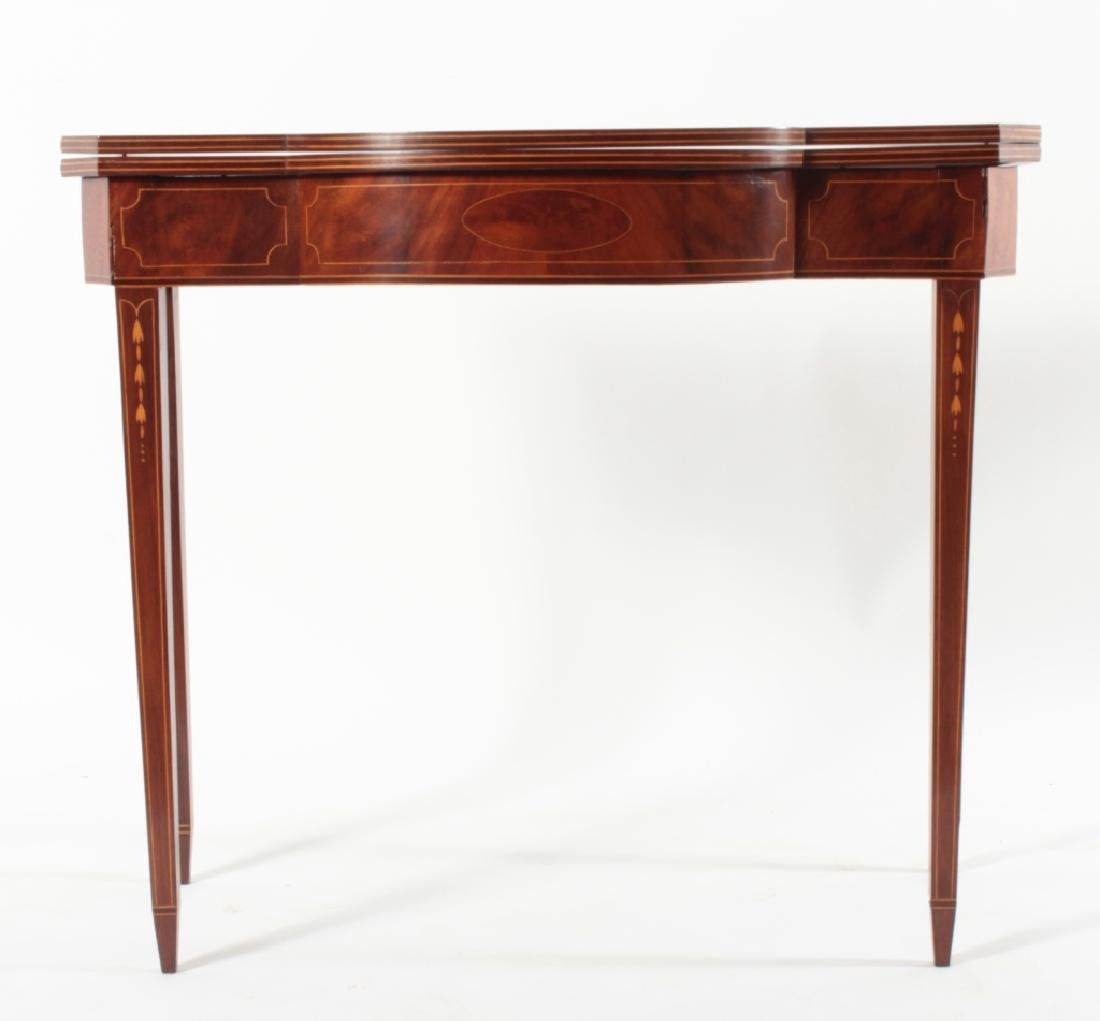 Federal Mahogany Folding Games Table, Bell Flowers