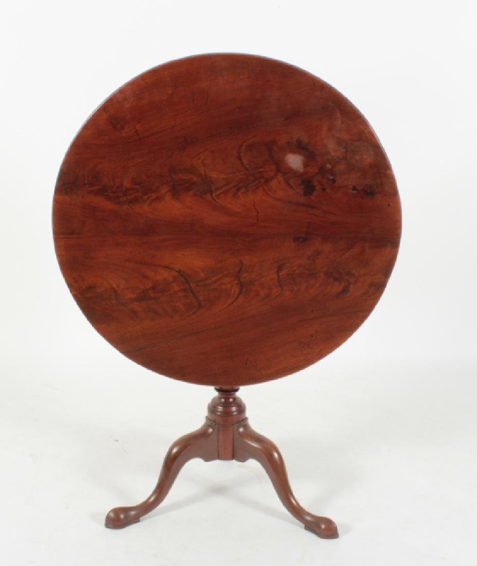 American Flame Mahogany Circular Tea Table c.1790
