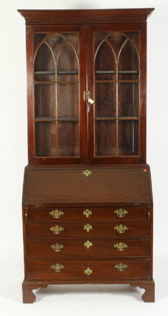 George III Mahogany 2-Part Secretaire/Bookcase