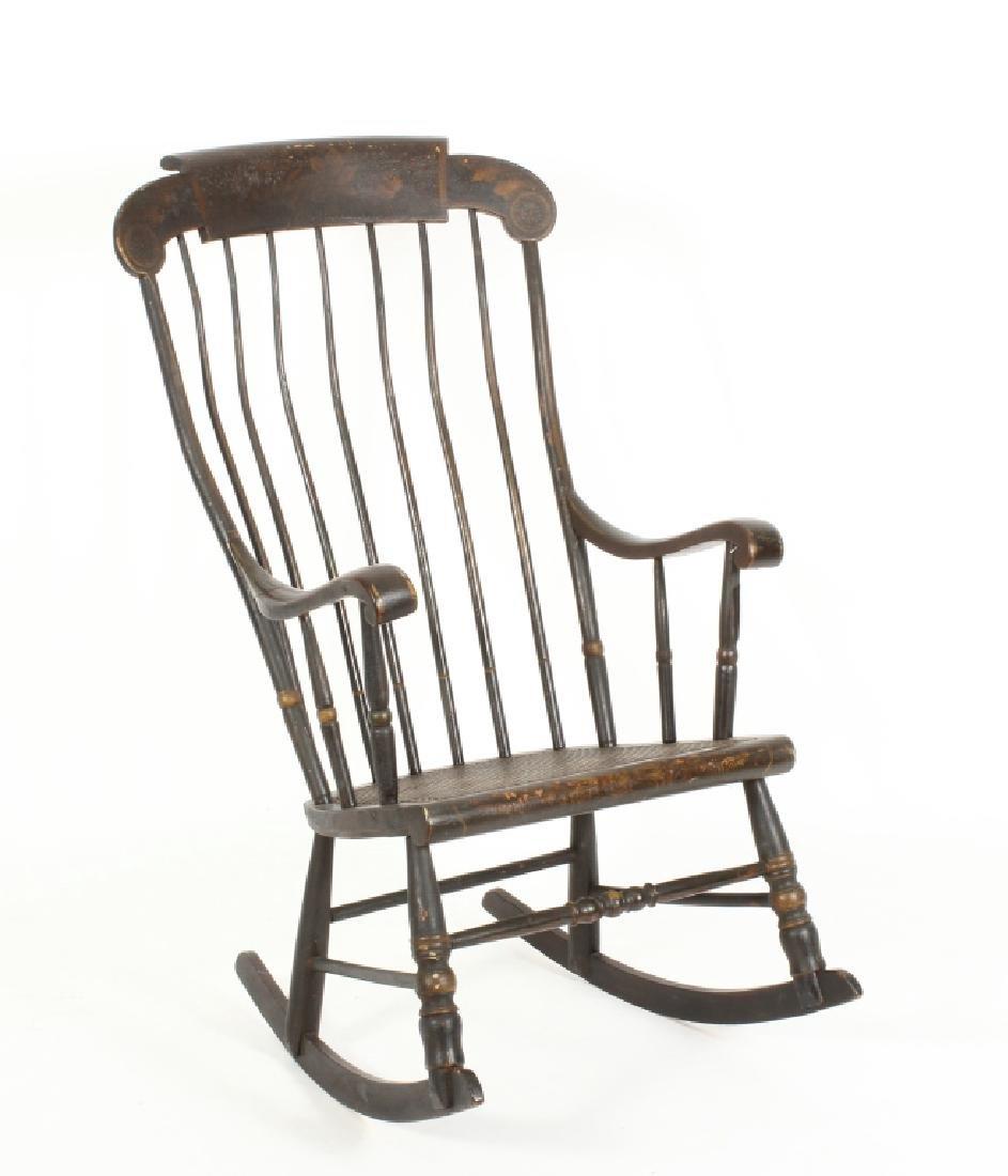 Hitchcock Rocking Chair, E.19th C.