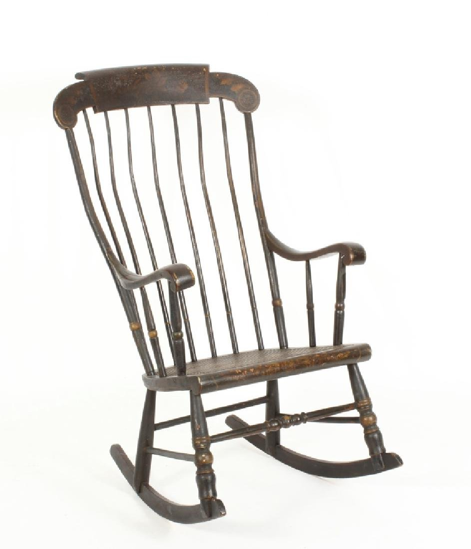 Hitchcock Rocking Chair, E.19th C.
