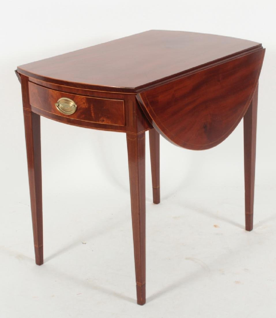 Hepplewhite Inlaid Mahogany Drop-Leaf Table c.1820