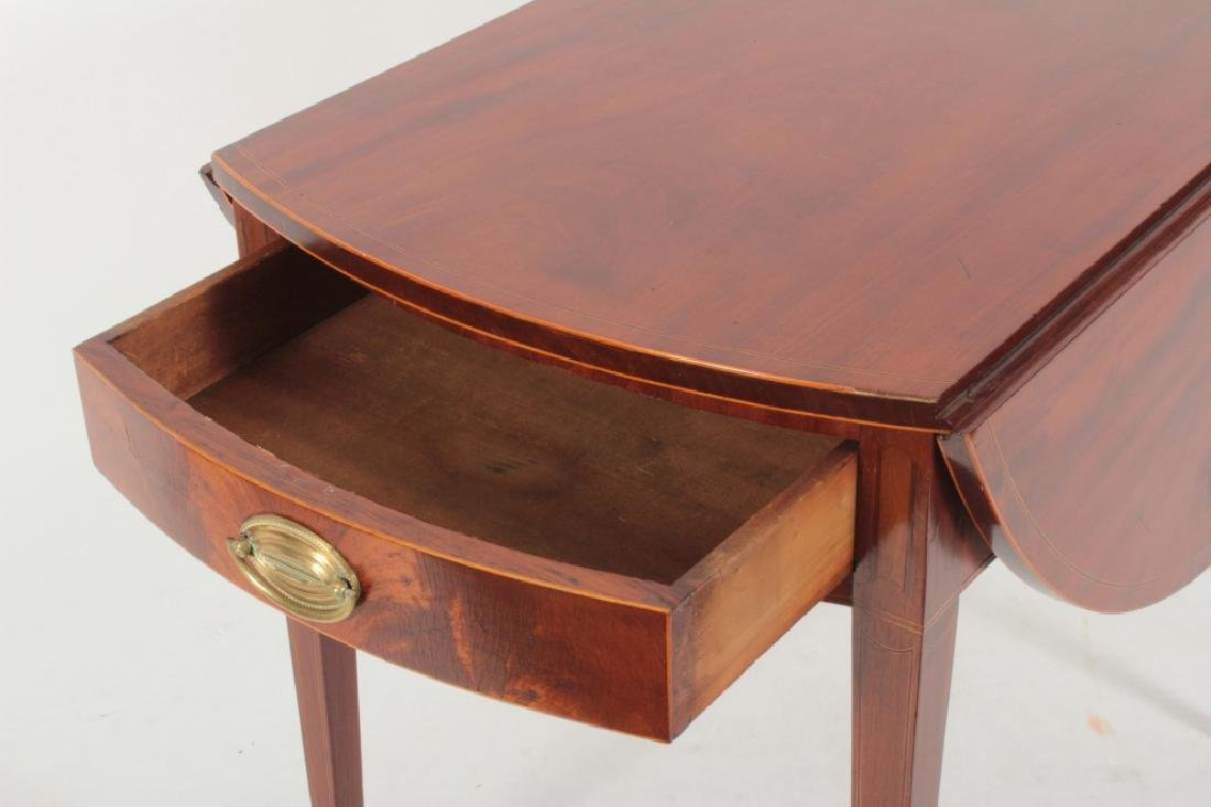 Hepplewhite Inlaid Mahogany Drop-Leaf Table c.1820 - 2