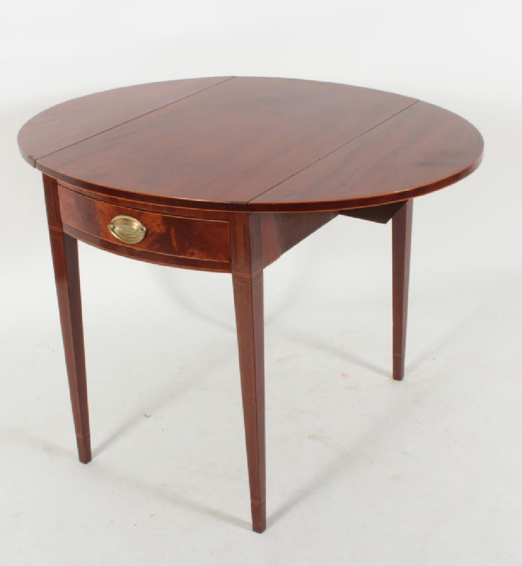 Hepplewhite Inlaid Mahogany Drop-Leaf Table c.1820 - 3
