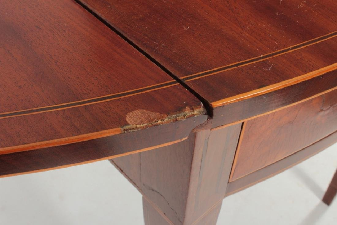 Hepplewhite Inlaid Mahogany Drop-Leaf Table c.1820 - 5