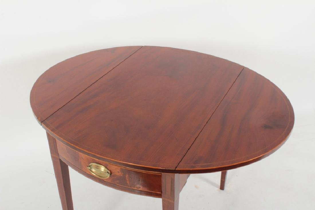 Hepplewhite Inlaid Mahogany Drop-Leaf Table c.1820 - 6