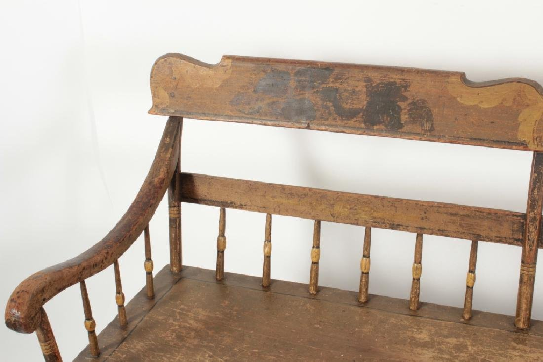 American Farm Long Bench with Old Paint, c. 1850 - 2