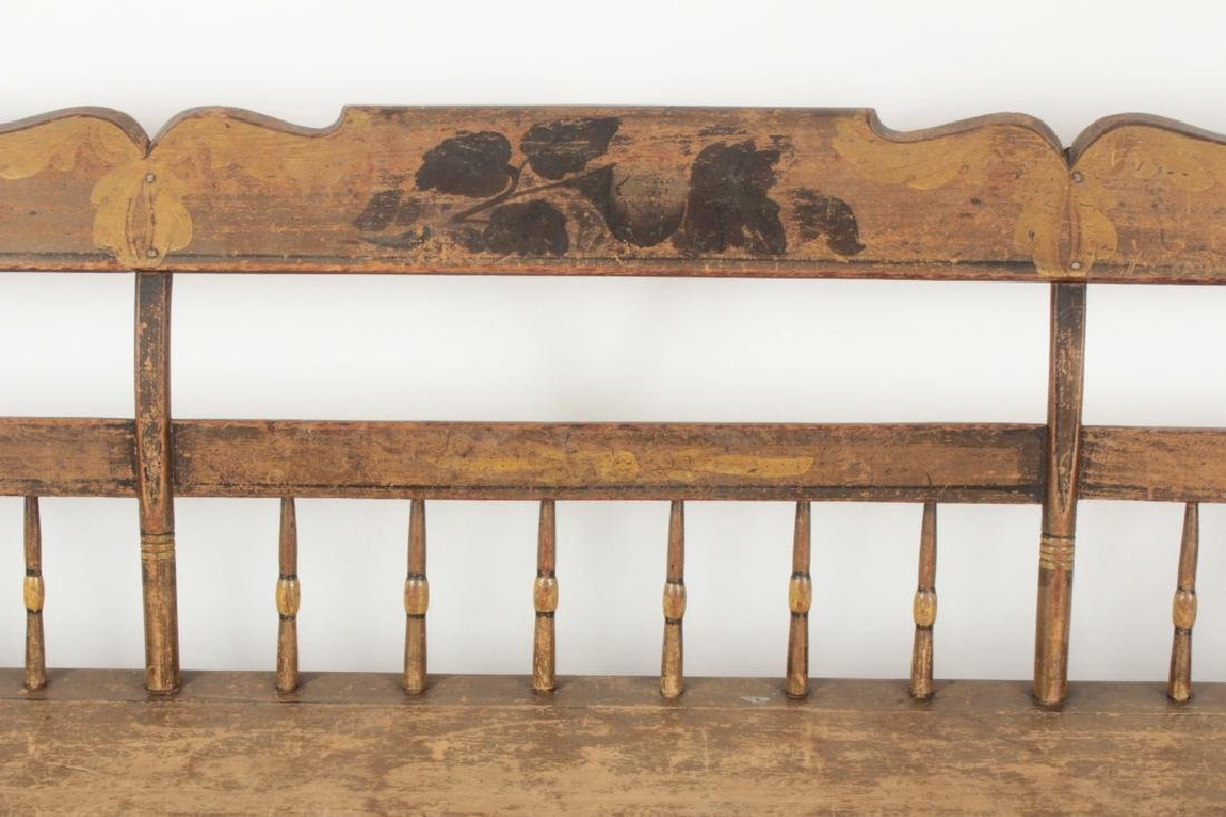 American Farm Long Bench with Old Paint, c. 1850 - 3