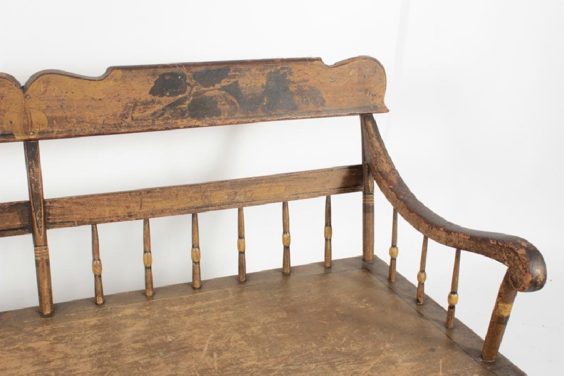 American Farm Long Bench with Old Paint, c. 1850 - 4