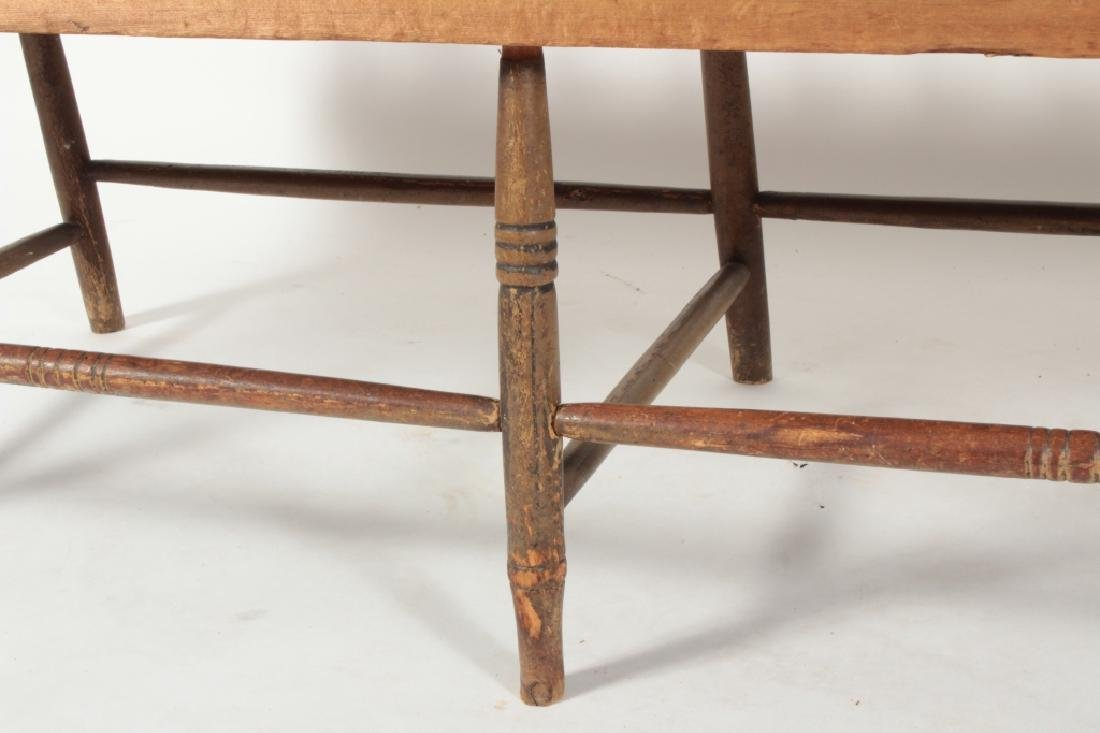American Farm Long Bench with Old Paint, c. 1850 - 5