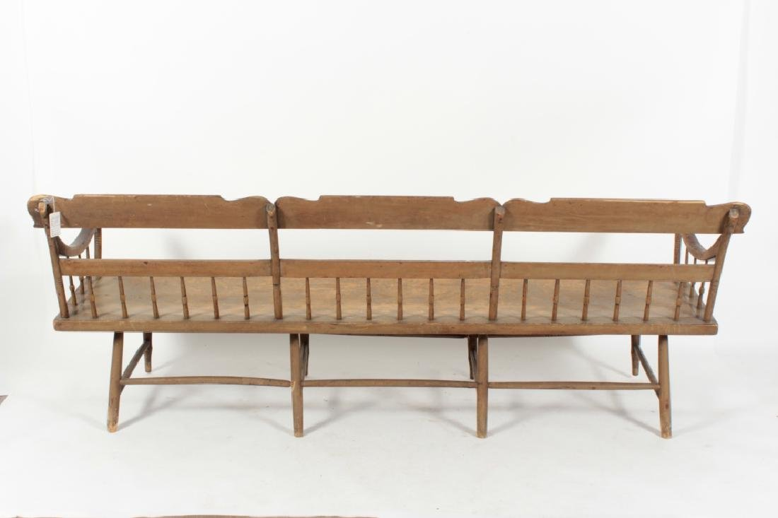 American Farm Long Bench with Old Paint, c. 1850 - 7