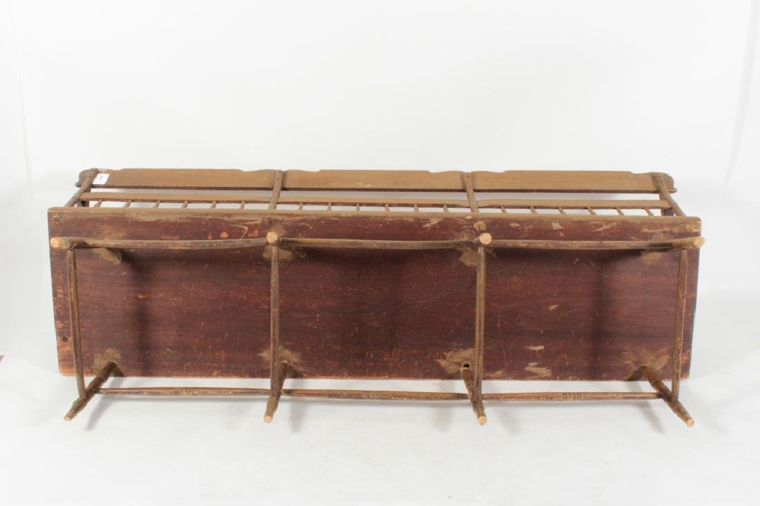 American Farm Long Bench with Old Paint, c. 1850 - 8