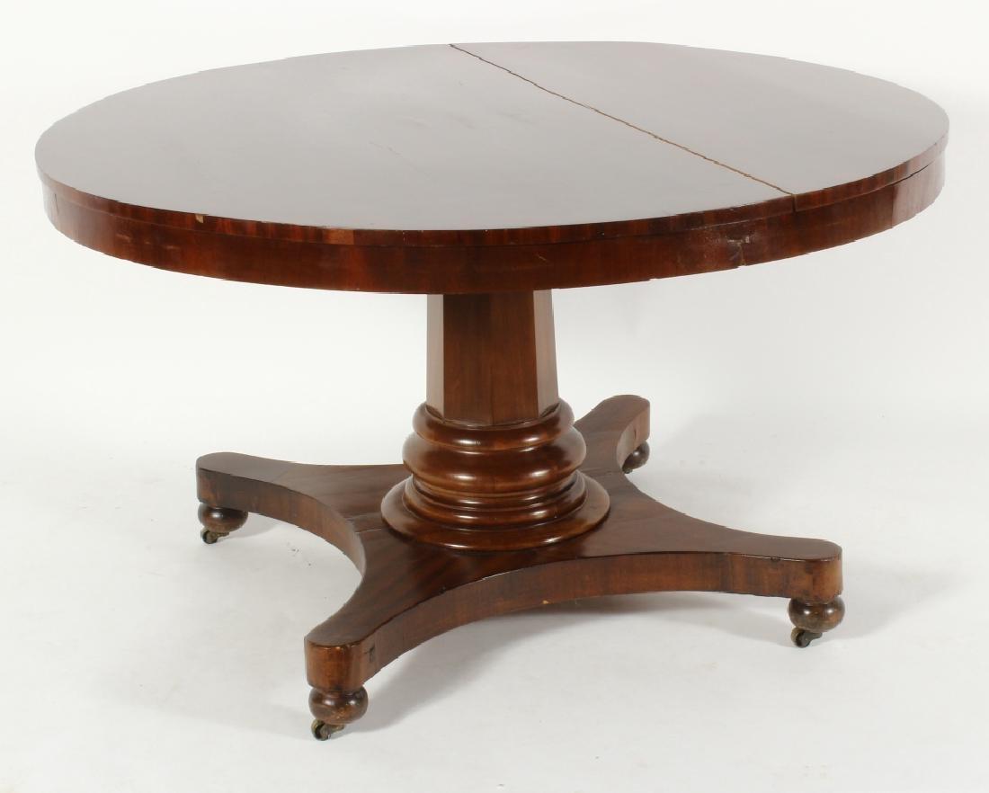 American Empire Mahogany Round Center Table, c. 18