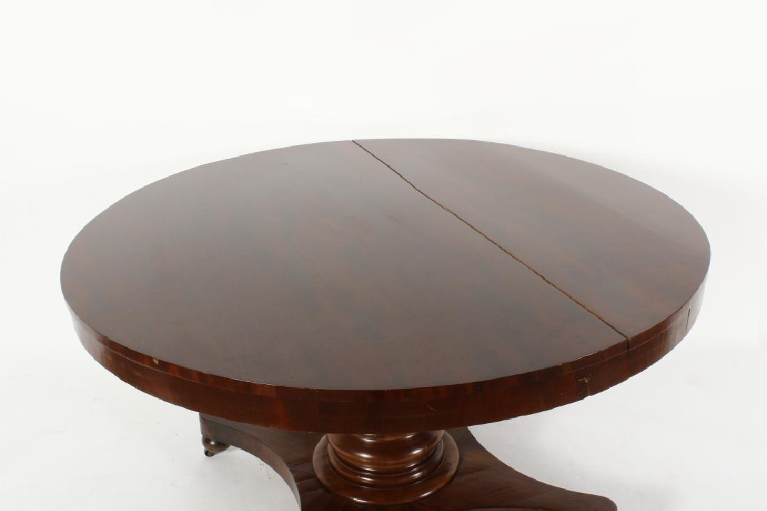 American Empire Mahogany Round Center Table, c. 18 - 2