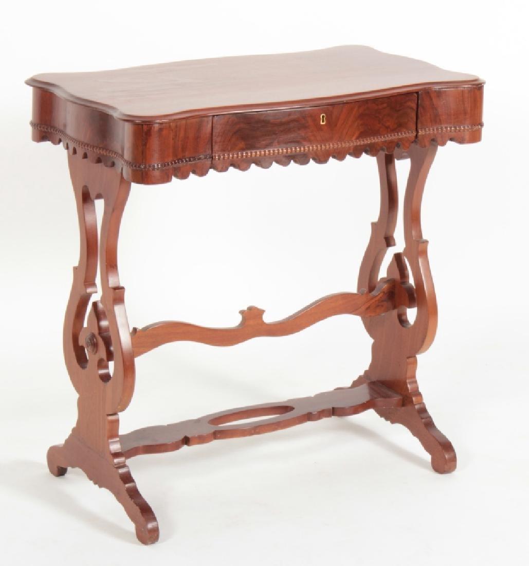 19th c. American Mahogany Petite Writing Table