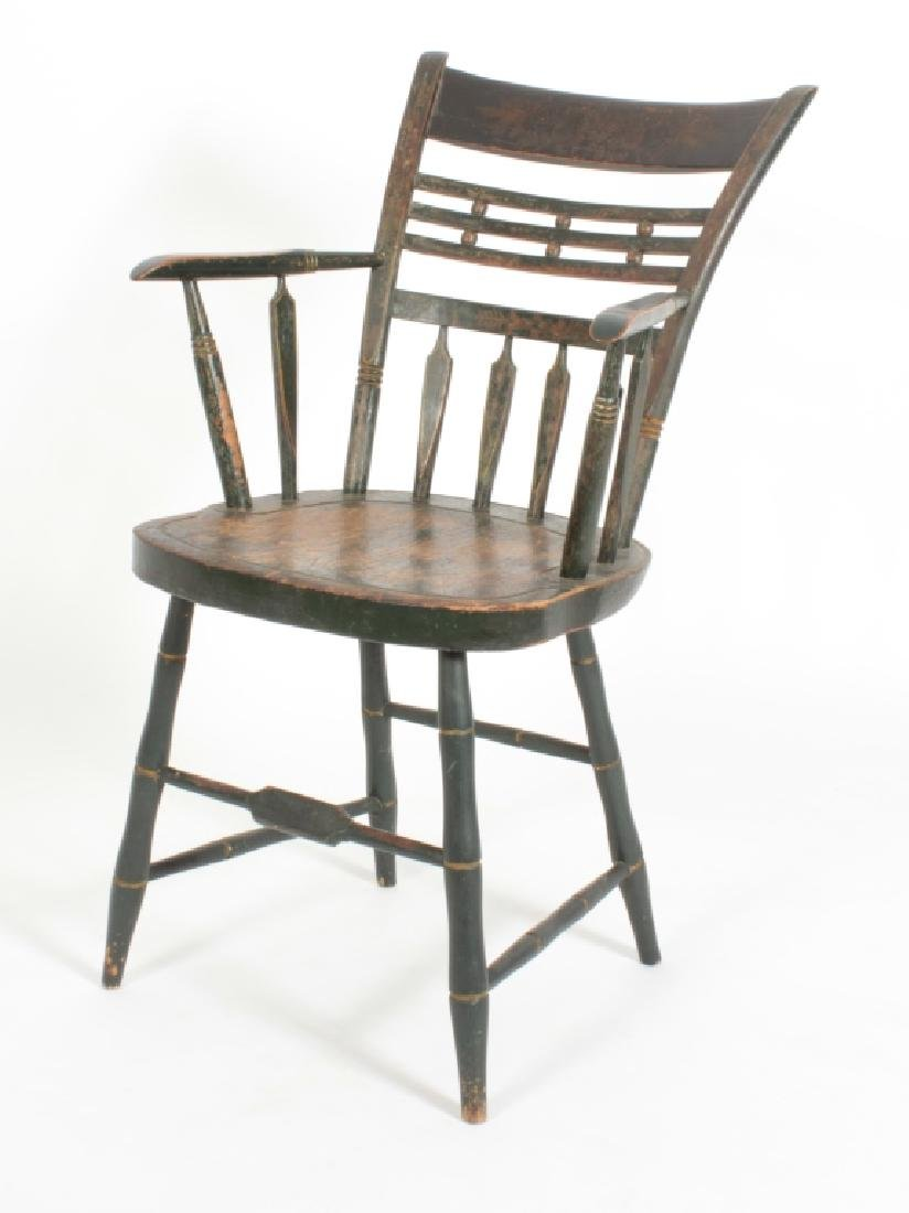 "Green-Painted Stenciled  American ""Fancy"" Chair"