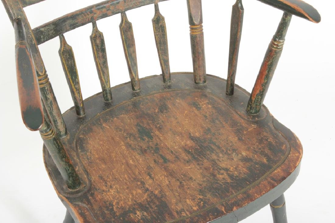 "Green-Painted Stenciled  American ""Fancy"" Chair - 3"