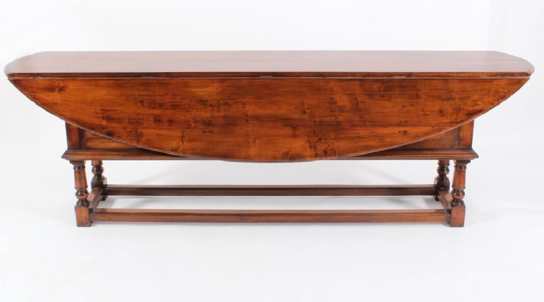 English Style Wake Table, Oval Drop Leaf 20th c.