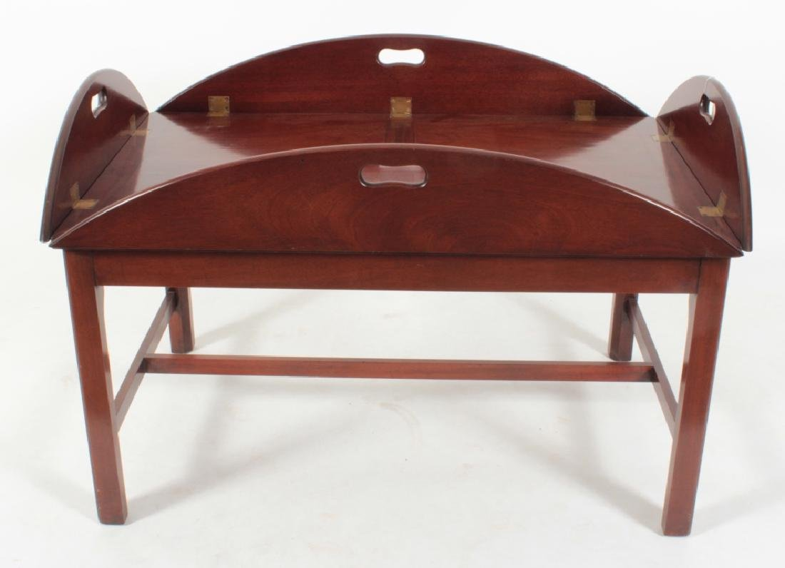 Chippendale Style Mahogany Butlers Tray Table