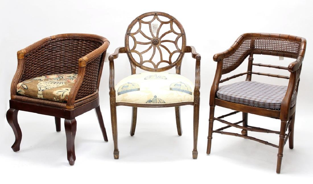Lot of 3 Arm Chairs