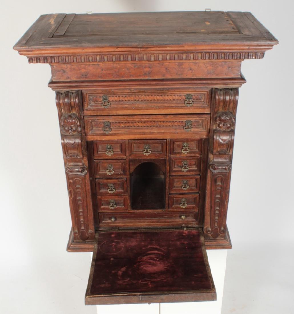 Italian Baroque Bambocci Walnut Writting Cabinet - 2