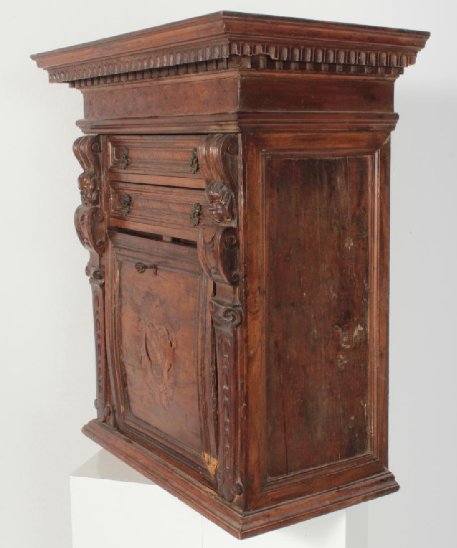 Italian Baroque Bambocci Walnut Writting Cabinet - 8