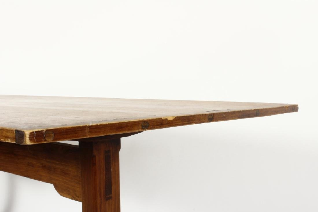 Pine Farm Table w Planked Top, 20th c. - 3