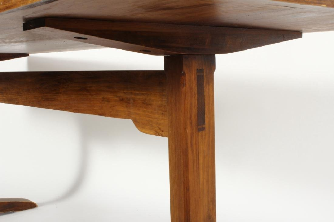 Pine Farm Table w Planked Top, 20th c. - 4