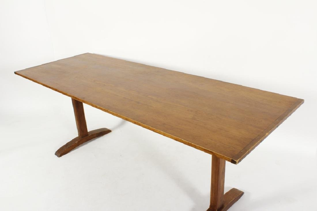 Pine Farm Table w Planked Top, 20th c. - 6