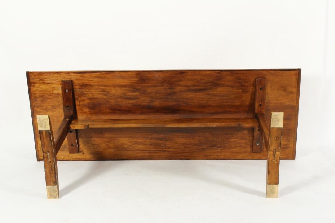 Pine Farm Table w Planked Top, 20th c. - 7